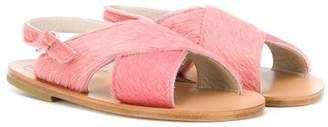 Pépé Crossover Slip-On Sandals