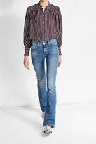 Frame Striped Silk Blouse
