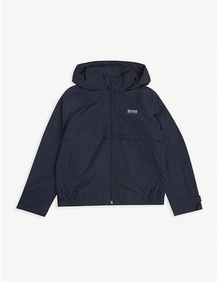 HUGO BOSS Logo-print hooded woven jacket 4-16 years