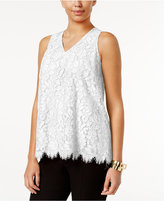 Alfani Floral-Lace Top, Only at Macy's