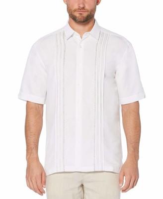 Cubavera Geo Embroidered Panel Shirt