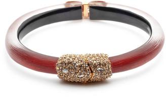 Alexis Bittar Crystal Encrusted Clasp Skinny Hinge Bracelet, Wine