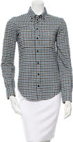 Etoile Isabel Marant Checker Print Button-Up Top
