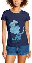 Disney Women's Princess Filled Sillhouette Ariel T-Shirt