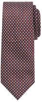 John Lewis Triangle Silk Tie, Burgundy/navy