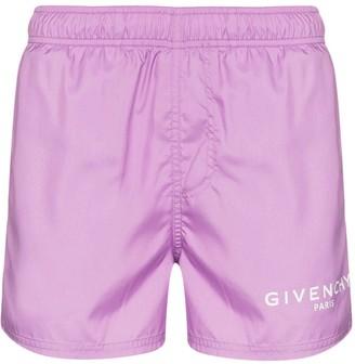 Givenchy Classic Logo Drawstring Swim Shorts