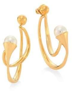 Chloé Darcey Swarovski Pearl Hoop Earrings