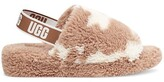 Thumbnail for your product : UGG Fluff Yeah Slide Cow Print Slippers