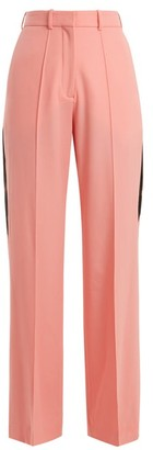 Racil Cumberland Side-stripe Wide-leg Wool Trousers - Pink
