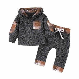 LZH Baby Clothing Sets Baby Boys 0-24 Monthes Long Sleeves Tops+Trouser 2Pcs Baby Girls Outfits Spring and Autumn Clothes 2-3 Years ArmyGreen