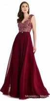 Morrell Maxie Beaded Chiffon A-line Evening Gown