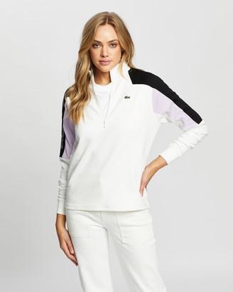 Lacoste L!Ve Feminine Bi-Face Jersey Sweatshirt