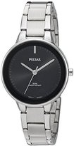 Pulsar Women's Quartz Brass and Stainless Steel Dress Watch, Color:Silver-Toned (Model: PRS675)