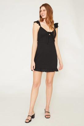 MinkPink Laurel Mini Dress Black XS