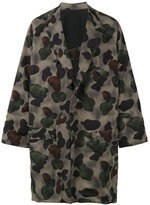 Yohji Yamamoto Oversized camouflage coat - men - Nylon/Polyester/Wool - 2