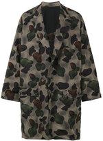 Yohji Yamamoto Oversized camouflage coat - men - Nylon/Polyester/Wool - 3