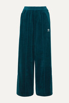 adidas Striped Cotton-blend Velvet Track Pants