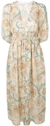 Zimmermann plunge button front dress