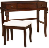 Linon Angela Walnut Vanity Set