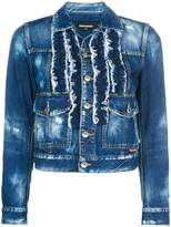 DSQUARED2 frill-embroidered denim jacket