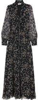 Paul & Joe Claudia Floral-print Silk-chiffon Maxi Dress - Navy