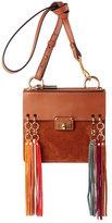 Chloé Jane Tassel-Trim Leather Crossbody Bag, Caramel