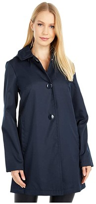 Kate Spade Single Breasted Rain Jacket (Blush Rose) Women's Coat