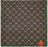 Gucci Men's Geometric-Print Silk Pocket Square