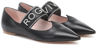 Roger Vivier Miss I Love Vivier leather ballet flats