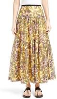 RED Valentino Women's Passion Flower Print Skirt
