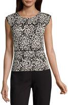 Liz Claiborne Sleeveless Crew Neck T-Shirt-Womens