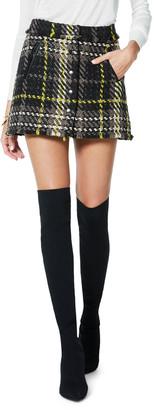 Ramy Brook Elias Plaid Tweed Mini Skirt