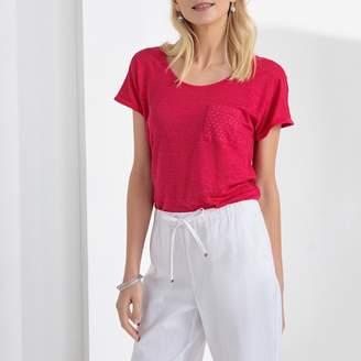 Anne Weyburn Pure Linen Crew Neck T-Shirt
