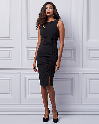 Le Château Shirred Knit Boat Neck Dress