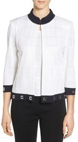 Ming Wang Women's Embellished Mandarin Collar Jacket