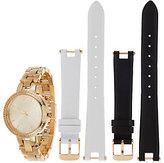 Diamonique Convertible Strap Watch