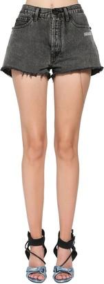 Off-White Degrade Cotton Denim Shorts