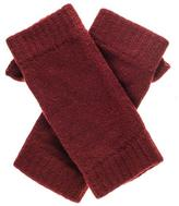Black Bordeaux Fingerless Cashmere Mittens