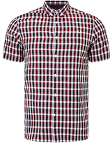 Fred Perry Three-colour Short Sleeve Shirt, Rosewood