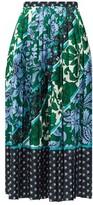 Erdem Nolana Wallpaper Kati Star-print Jacquard Skirt - Womens - Green Print