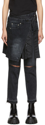 Sacai Black Skirt Jeans
