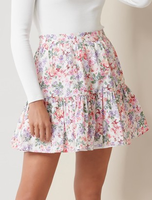 Forever New Claudia Ruffle Mini Skirt - Daylesford Ditsy - 10