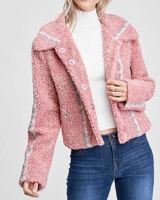 Express En Saison Shearling Long Sleeve Jacket