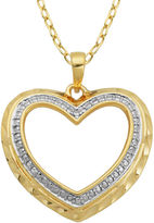 SPARKLE ALLURE Classic Treasures Diamond-Accent Cutout Heart Pendant Necklace