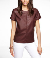 (Minus The) Leather Seamed Tee