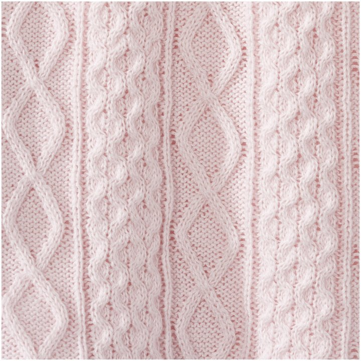 Halo Cable Knit Sweater - Pink - Small