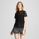 Women's High Neck Lace Top - Who What Wear