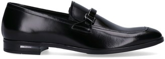 Prada Logo Plaque Slip-On Loafers