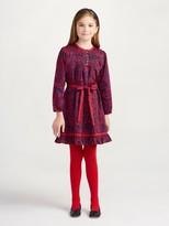 Oscar de la Renta Abstract Garden Cotton Tunic Dress