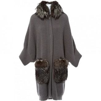 Albino Grey Raccoon Knitwear for Women